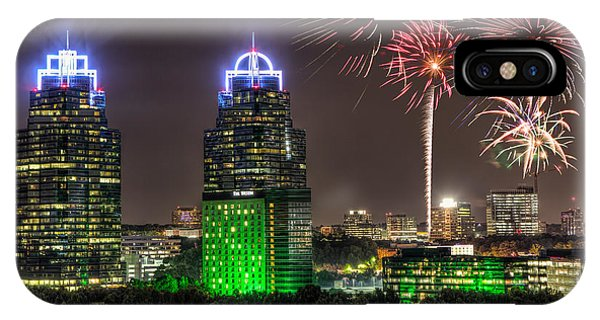 King And Queen Buildings Fireworks IPhone Case