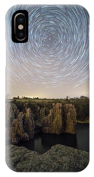 Split Rock iPhone Case - King And Queen Star Trails by Aaron J Groen