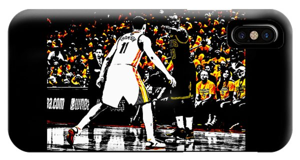 Kyrie Irving iPhone Case - King James Directing Traffic by Brian Reaves