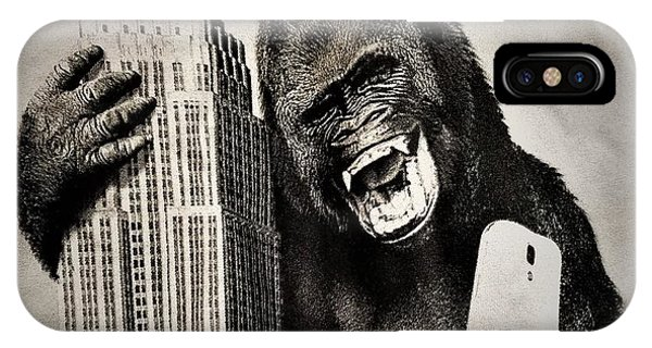 iPhone Case - King Kong Selfie by Rob Hans