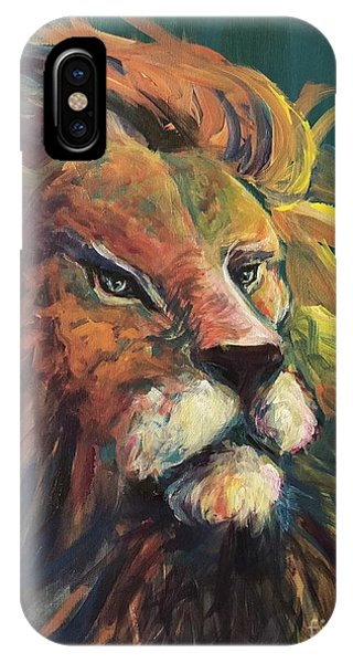 IPhone Case featuring the painting Aslan by Lisa DuBois