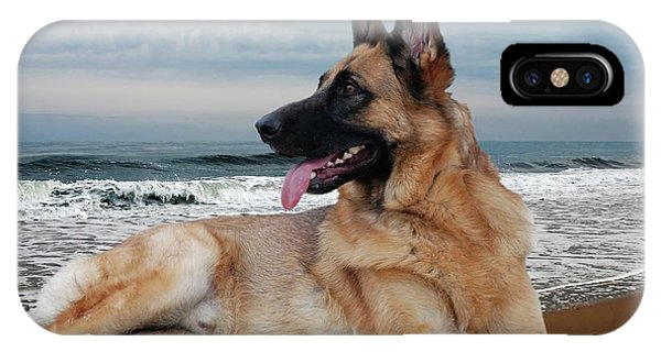 King Of The Beach - German Shepherd Dog IPhone Case