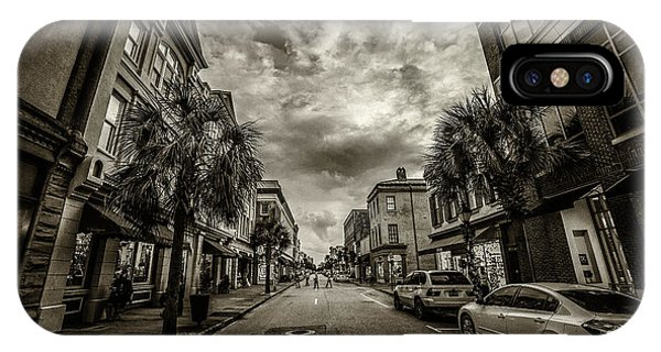 King St. Storm Clouds Charleston Sc IPhone Case