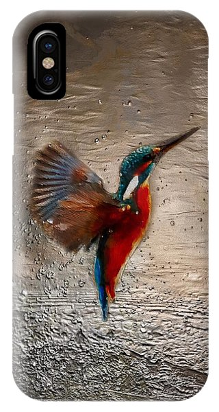 IPhone Case featuring the painting Kingfisher by Mark Taylor