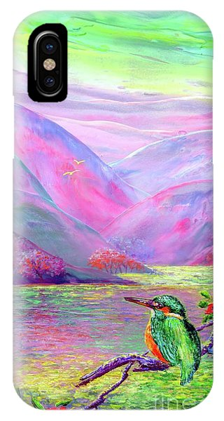 Kingfisher, Shimmering Streams IPhone Case