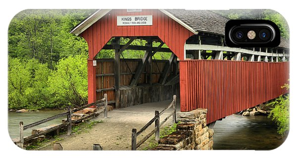 Kings Covered Bridge Somerset Pa IPhone Case