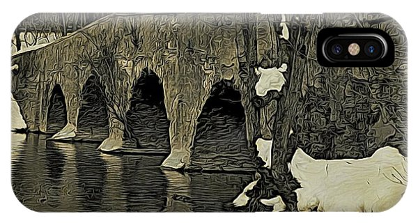 Kingston Bridge Woodprint IPhone Case