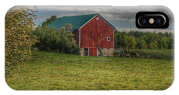 0039 - Kingston's Plain Road Cow Barn I IPhone Case