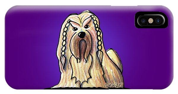 Kiniart Lhasa Apso Braided IPhone Case