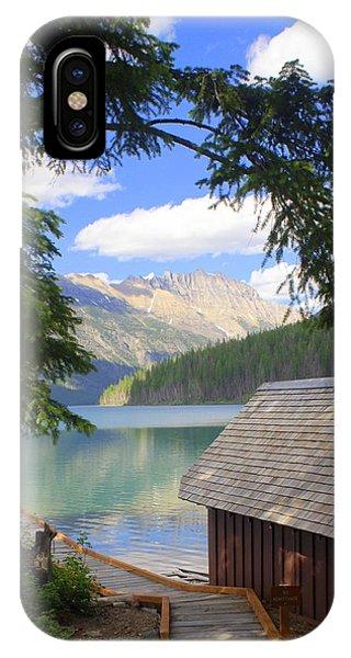 Kintla Lake Ranger Station Glacier National Park IPhone Case