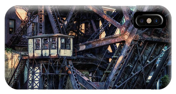 Kinzie Rail Bridge Detail IPhone Case