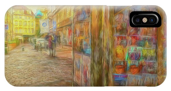 Kiosk - Prague Street Scene IPhone Case