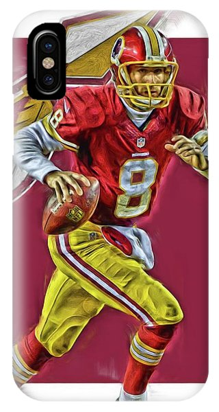 Washington Redskins iPhone Case - Kirk Cousins Washington Redskins Oil Art  by Joe Hamilton 4d6eca450