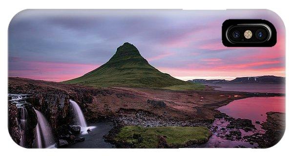 Stream iPhone Case - Kirkjufellsfoss Waterfalls Iceland Portrait Version by Larry Marshall