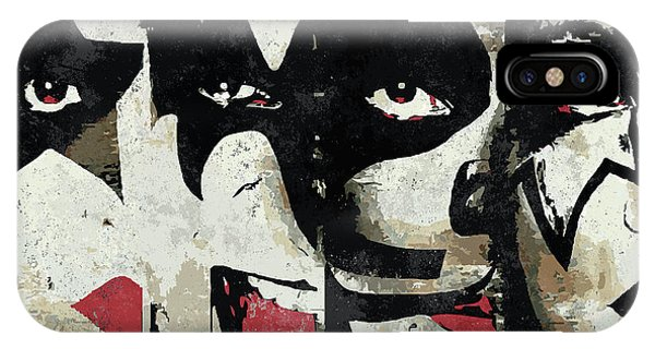 Rock And Roll Art iPhone Case - Kiss Art Print by Geek N Rock