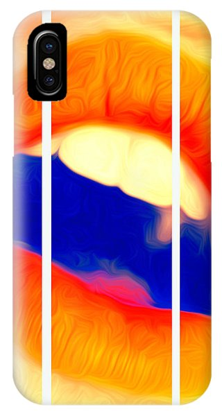 Kiss Me-triptych IPhone Case