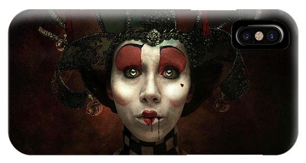 Gothic iPhone Case - Kiss Of The Jester by G Berry