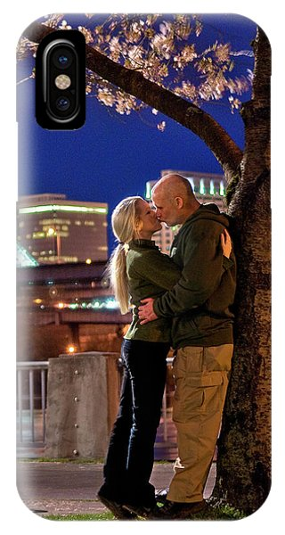 Kiss Under The Cherry Tree - Vertical IPhone Case