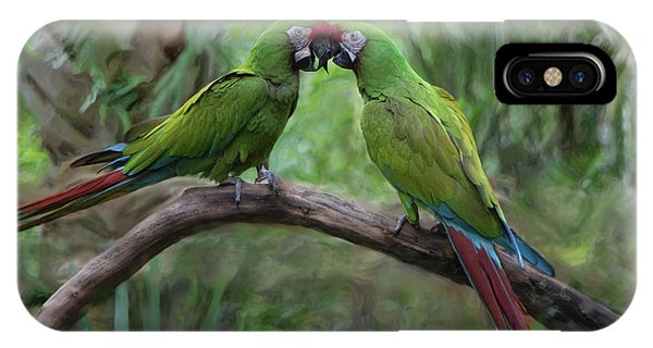 Kissing Macaws IPhone Case