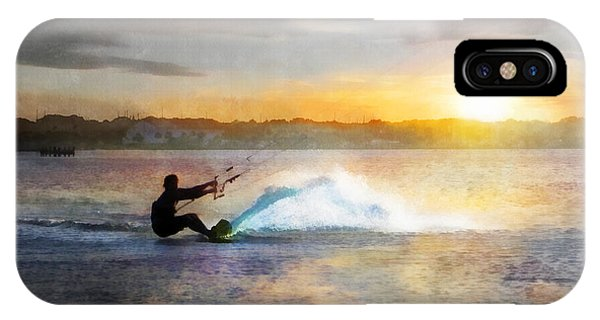Kite Boarding At Sunset IPhone Case