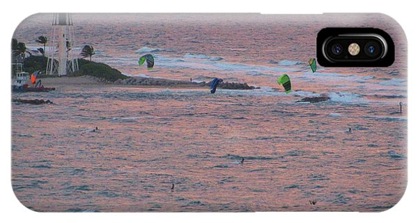 Kiteboarding At Hillsboro IPhone Case