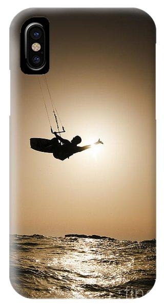 Psi iPhone Case - Kitesurfing At Sunset by Hagai Nativ