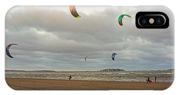 Kitesurfing On Revere Beach IPhone Case