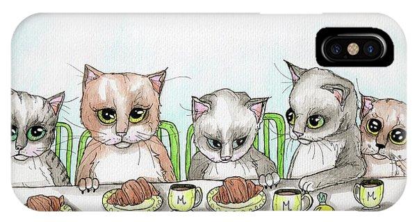 Kitten Tea Party IPhone Case
