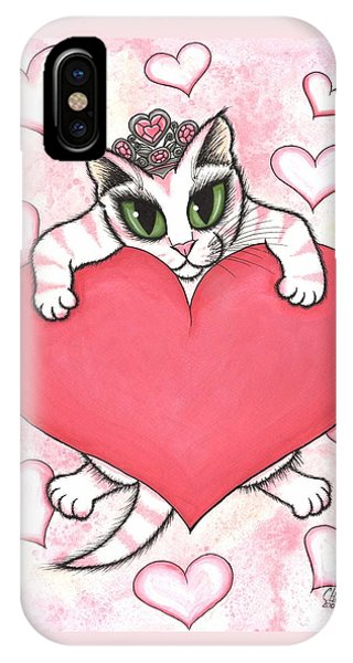 Kitten With Heart IPhone Case
