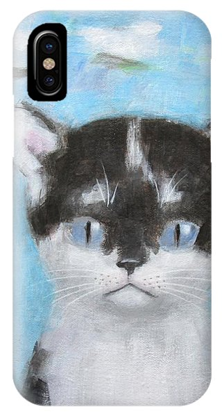 Kitten With Three Clouds IPhone Case