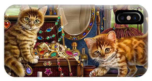 Kittens With Jewelry Box IPhone Case