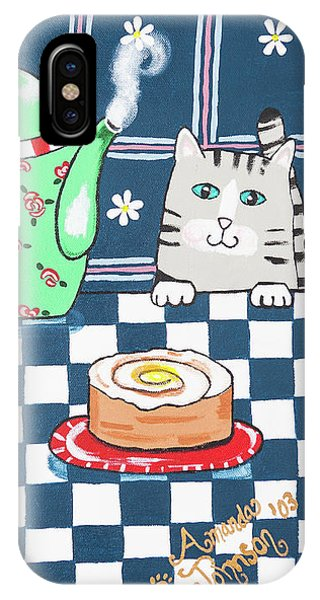 Kitty Cat Tea Time IPhone Case