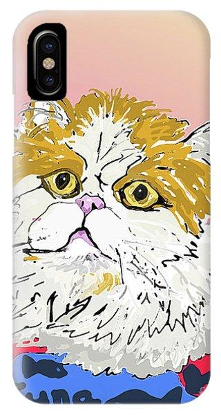 Kitty In Tuna Can IPhone Case