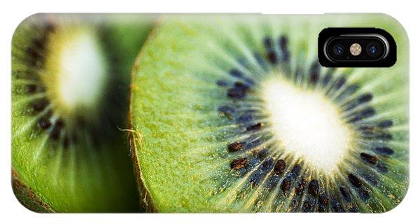 Kiwi Fruit Halves IPhone Case