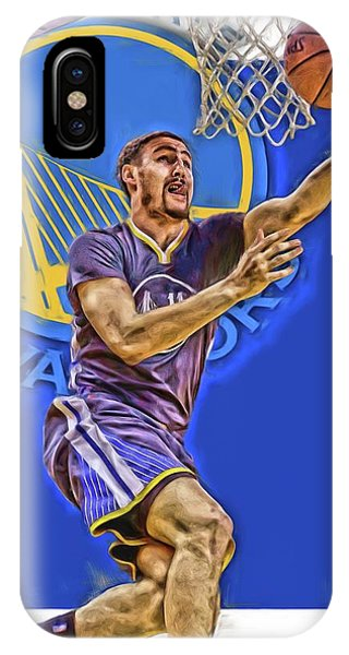 Tickets iPhone Case - Klay Thompson Golden State Warriors Oil Art by Joe Hamilton