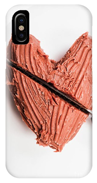 Cutting iPhone Case - Knife Cutting Heart Shape Chocolate On Plate by Jorgo Photography - Wall Art Gallery