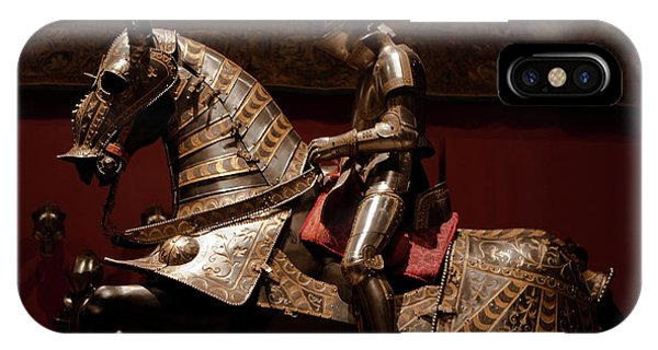 Knight And Horse In Armor IPhone Case