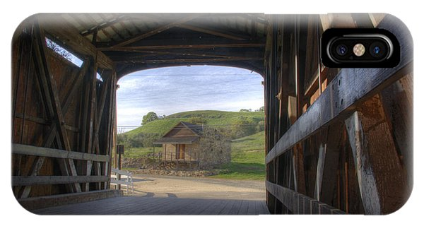 Knights Ferry Covered Bridge IPhone Case