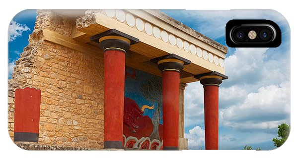 Knossos Palace At Crete, Greece IPhone Case