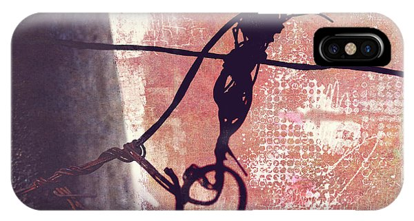 IPhone Case featuring the photograph Knotted Wire by Anna Louise