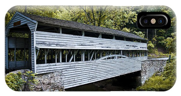 Covered Bridge iPhone Case - Knox Covered Bridge - Valley Forge by Bill Cannon