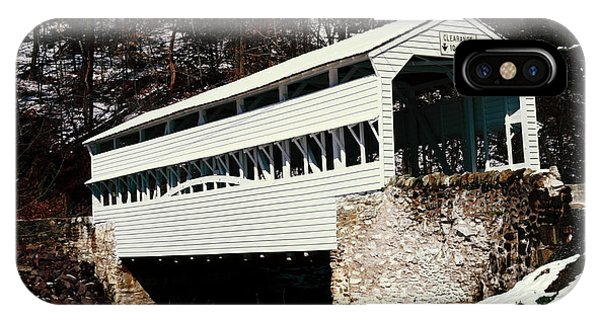 Knox Covered Bridge Historical Place IPhone Case