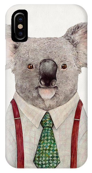 Portraits iPhone X Case - Koala by Animal Crew