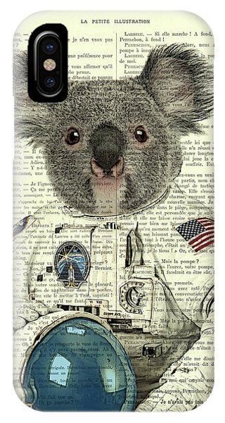 Astronaut iPhone Case - Koala In Space Illustration by Madame Memento