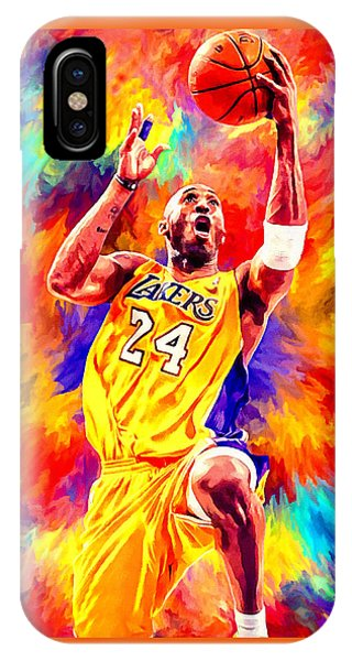 Kobe Bryant Basketball Art Portrait Painting IPhone Case