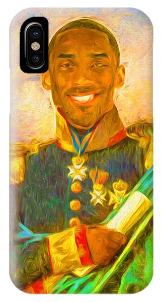 Kobe Bryant Floor General Digital Painting La Lakers IPhone Case