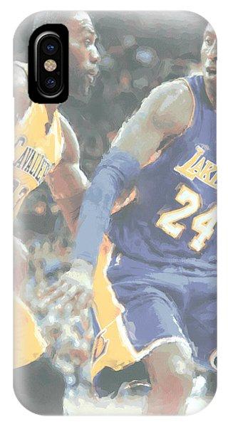 Kobe iPhone Case - Kobe Bryant Lebron James 2 by Joe Hamilton