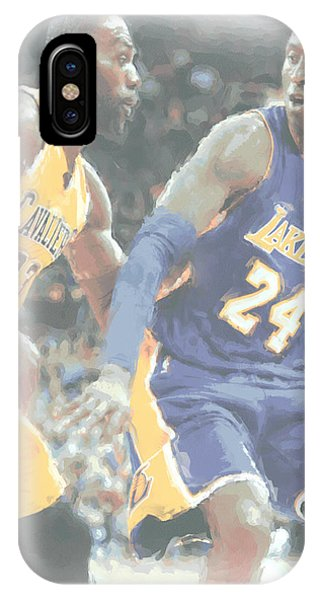 Lebron James iPhone Case - Kobe Bryant Lebron James 2 by Joe Hamilton