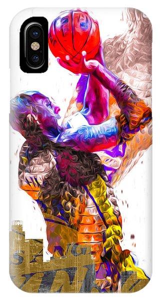 Kobe Bryant Los Angeles Lakers Digital Painting Snake 1 IPhone Case