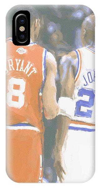 Kobe iPhone Case - Kobe Bryant Michael Jordan 2 by Joe Hamilton